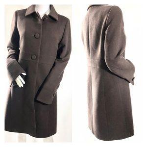 J Crew Chocolate Brown - Wool Coat - Size Small